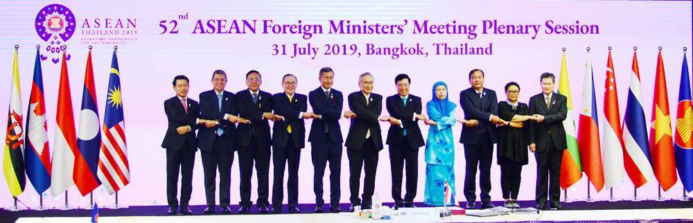 """Hội nghị Bộ trưởng Ngoại giao ASEAN lần thứ 52 (AMM-52) đã ra tuyên bố chung bày tỏ quan ngại về """"sự cố nghiêm trọng"""" tại Biển Đông. Ảnh: Quang Trung."""