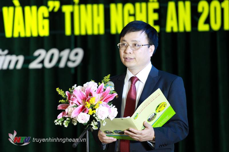 Ông Bùi Đình Long - TUV, Bí thư huyện ủy Nam Đàn phát biểu chào mừng Hội báo Xuân Kỷ Hợi 2019.
