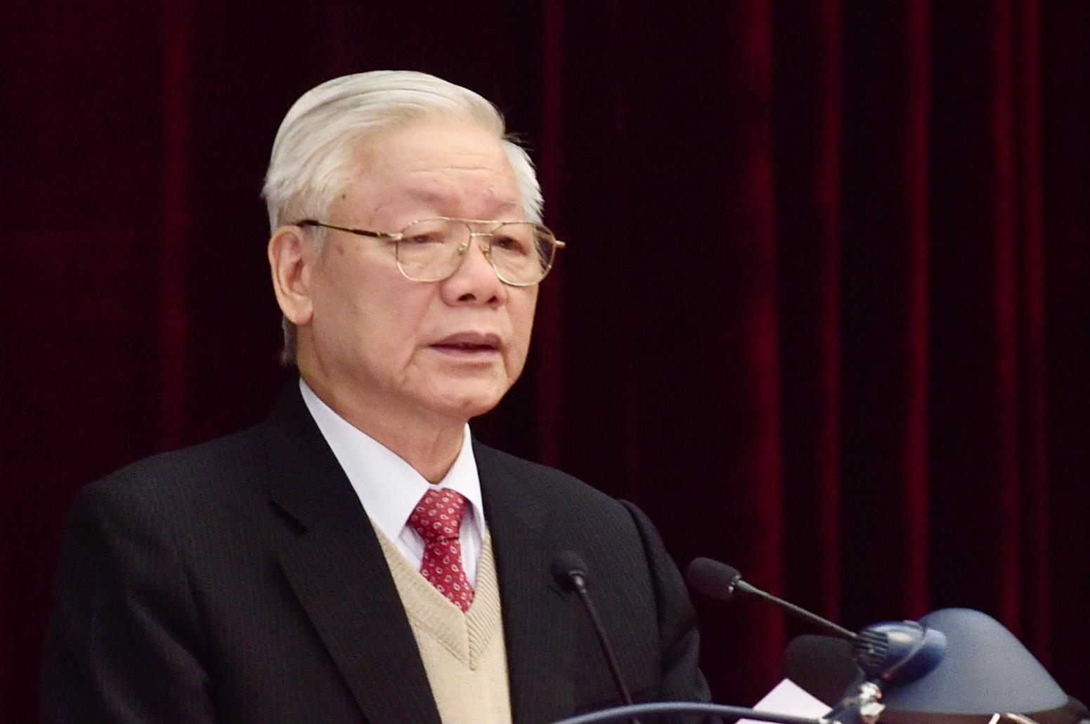 Tổng Bí thư, Chủ tịch nước Nguyễn Phú Trọng phát biểu khai mạc Hội nghị Trung ương 15. Ảnh: VGP