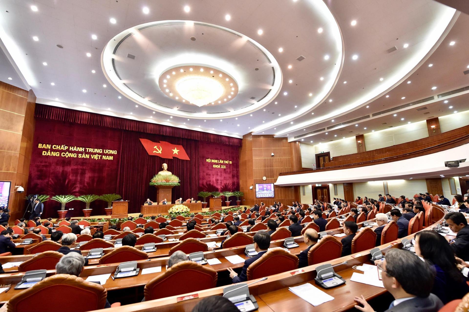 Quang cảnh phiên khai mạc Hội nghị Trung ương 15. Ảnh: VGP