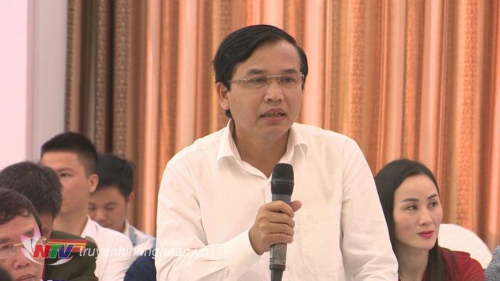 Ông Nguyễn Như Khôi - TUV, Giám đốc Đài PT-TH Nghệ An phát biểu tại buổi họp báo.