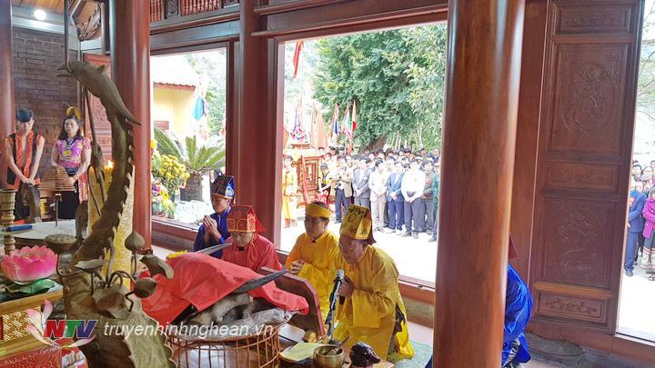Lễ Đại tế được tổ chức tại Đền.