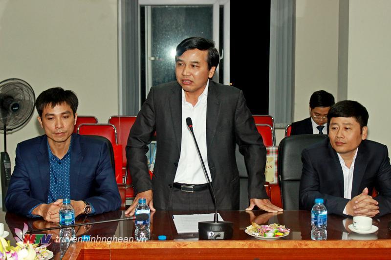 Giám đốc đài PTTH Nghệ An Nguyễn Như Khôi báo cáo kết quả hoạt động của NTV trong năm 2018.