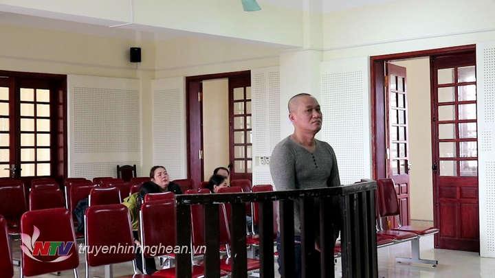 Bị cáo Lê Văn Trường tại tòa