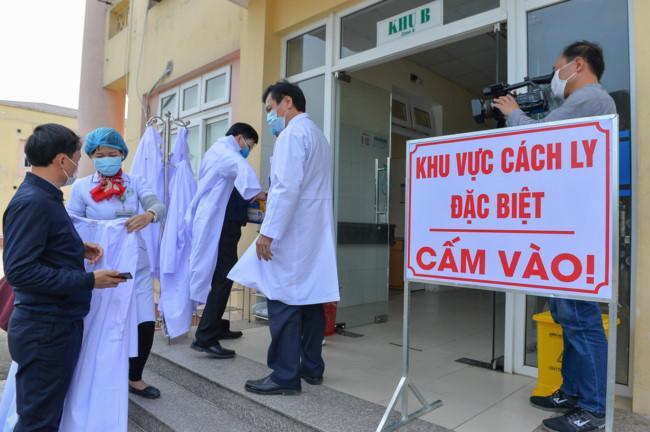 Khu vực cách ly đặc biệt tại Bệnh viên Hữu nghị Đa khoa tỉnh Nghệ An.