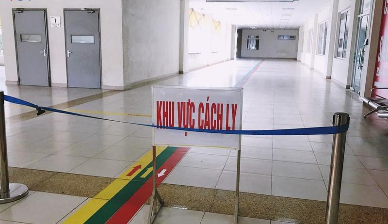 Khu vực cách ly tại Bệnh viện Bệnh nhiệt đới Trung ương cơ sở 2.