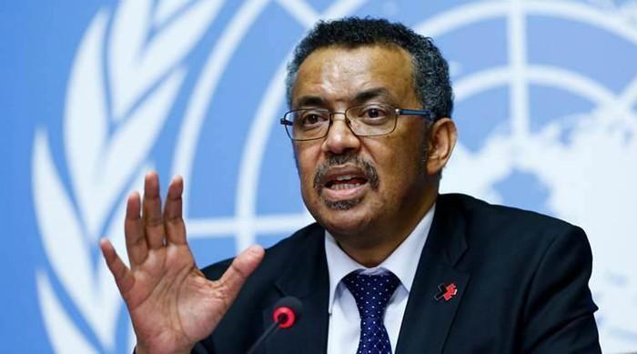 Tổng Giám đốc Tổ chức Y tế Thế giới Ghebreyesus. Ảnh: Reuters