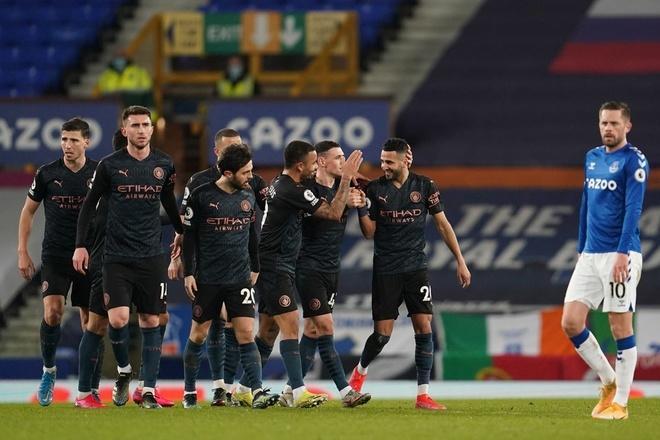 Man City dễ dàng đánh bại Everton của HLV Ancelotti. (Ảnh: Getty).