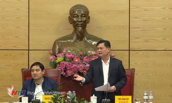 Chủ tịch UBND tỉnh Thái Thanh Quý kết luận buổi làm việc.