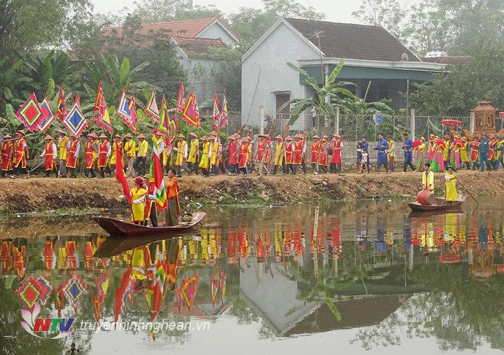 Lễ rước tại lễ hội.