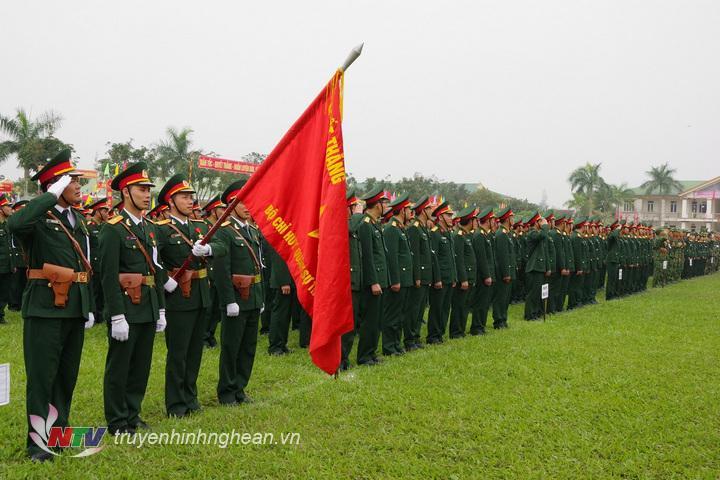 Cán bộ, chiến sĩ LLVT tỉnh Nghệ An tham gia Lễ ra quân huấn luyện năm 2019
