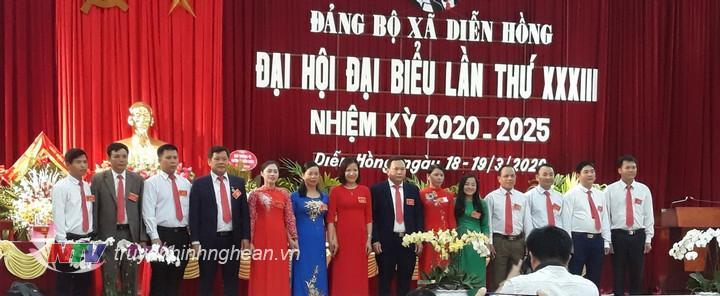 BCH Đảng bộ Diễn Hồng nhiệm kỳ 2020- 2025 ra mắt.