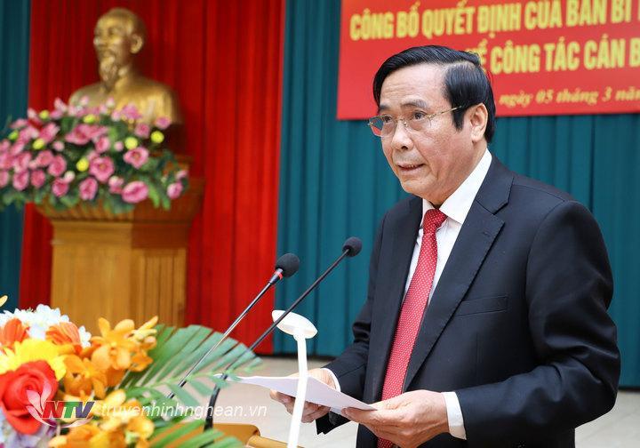 Phó Trưởng ban Thường trực Ban Tổ chức Trung ương Nguyễn Thanh Bìnhphát biểu tại hội nghị.