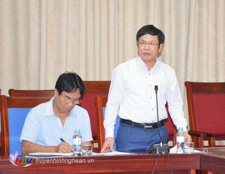Ông Thái Văn Nông, Phó Giám đốc Sở TN&MT đánh giá kết quả sau 1 năm thực hiện Kế hoạch 99 của UBND tỉnh về thực hiện Nghị quyết số 08 của Ban Thường vụ Tỉnh ủy.