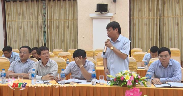 Đại diện sở NN&PTNT phát biểu tại buổi họp báo.