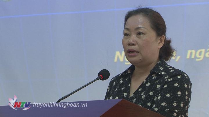 Đ/c Nguyễn Thị Thu Hường phát biểu kết luận hội nghị.