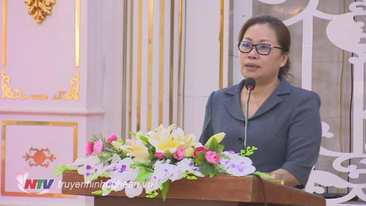 ồng chí Nguyễn Thị Thu Hường, Trưởng Ban Tuyên giáo Tỉnh ủy