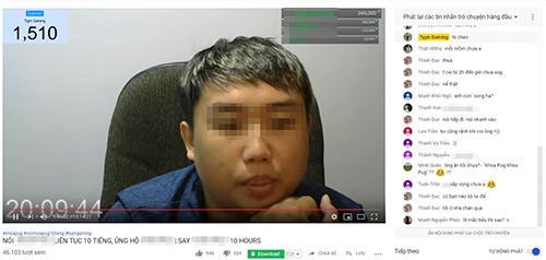 Một tài khoản YouTube gây chú ý bằng cách nói một từ hơn 10 giờ đồng hồ.