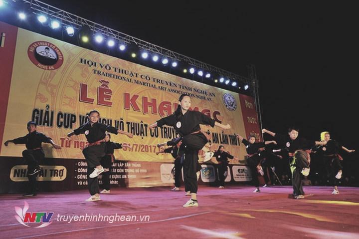 Biểu diễn  Quyền tại Lễ khai mạc giải Cúp vô địch võ cổ truyền Nghệ An, lần thứ I.