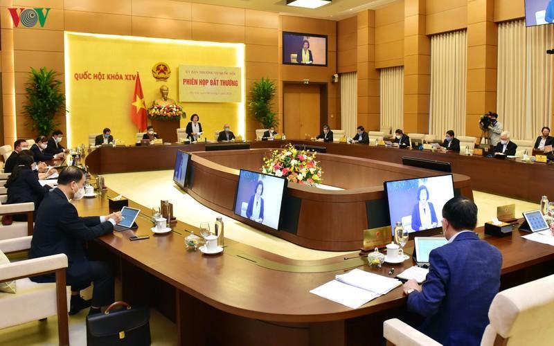 Phiên họp bất thường của Ủy ban Thường vụ Quốc hội