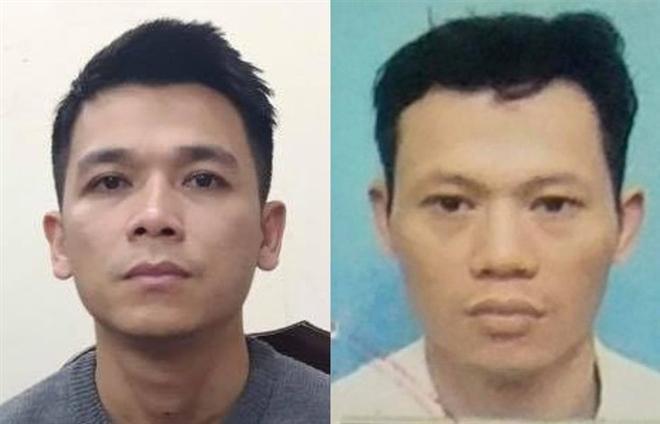 Nguyễn Anh Vũ (trái) và Nguyễn Xuân Quý. (Ảnh: Công an Hà Nội)