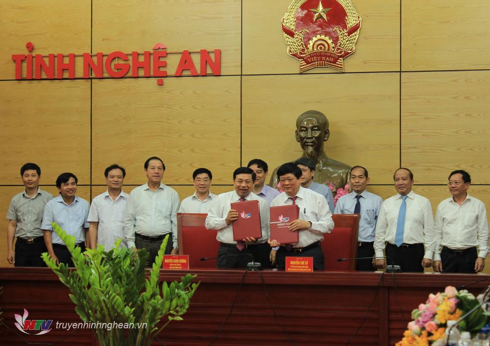 UBND tỉnh Nghệ An và Đài TNVN ký kết CHương trình phối hợp quảng bá