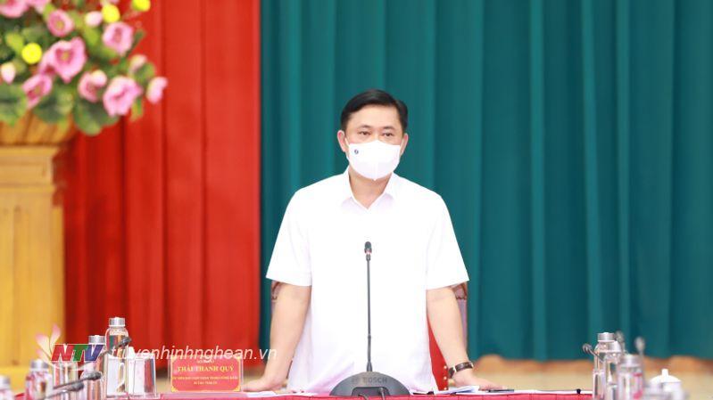 Bí thư Tỉnh ủy Thái Thanh Quý phát biểu kết luận hội nghị.