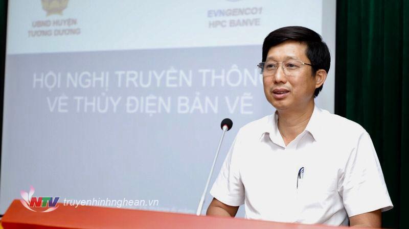 Ông Hoàng Văn Ngọc - Phó Giám đốc Công ty Thủy điện Bản Vẽ.