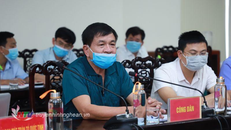 Ông Tô Anh Phương - Giám đốc Công ty TNHH Kiều Phương phát biểu kiến nghị.