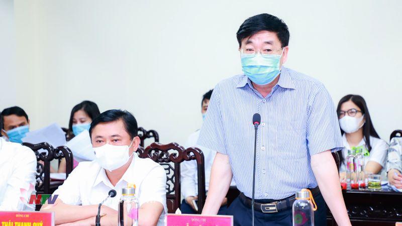 Đồng chí Nguyễn Văn Thông - Phó Bí thư Thường trực Tỉnh ủy phát biểu