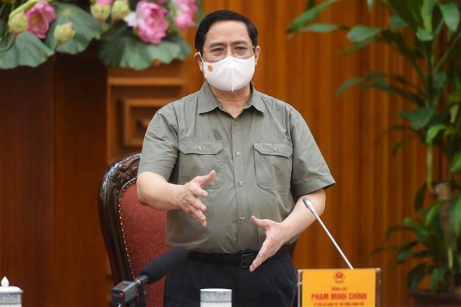Thủ tướng Phạm Minh Chính: Nếu không xử lý nghiêm minh, sẽ tiếp tục dẫn tới tâm lý chủ quan, lơ là, mất cảnh giác, có thể dẫn đến hậu quả khó lường. (Ảnh: VGP)