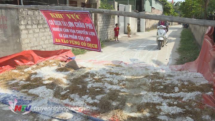 Điểm chốt tại xóm 1, xã Nghi Xá, huyện Nghi Lộc