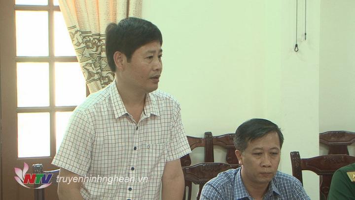 Đ/c Trần Minh Ngọc - Phó Giám đốc Đài PTTH Nghệ An phát biểu tại buổi gặp mặt.