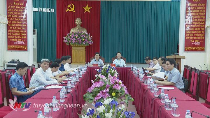 Toàn cảnh hội nghị tại điểm cầu Nghệ An.