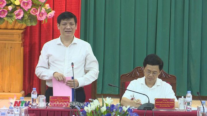Đồng chí Nguyễn Thanh Long - Phó Trưởng ban Tuyên giáo Trung ương phát biểu tại buổi làm việc.
