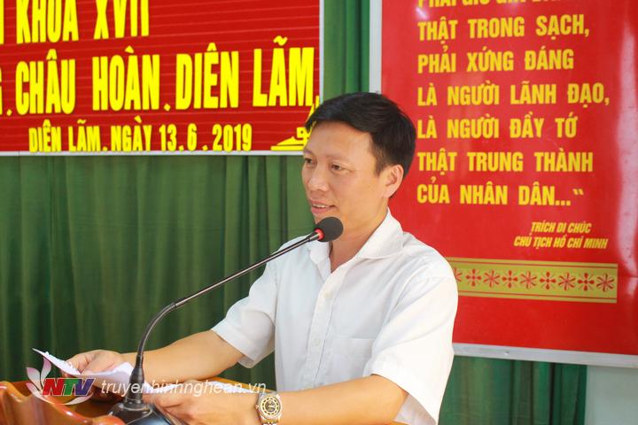 Đại diện cử tri xã Châu Phong kiến nghị về những bất cập trong việc bố trí việc làm cho Công an xã khi có Công an chính quy về thay thế.