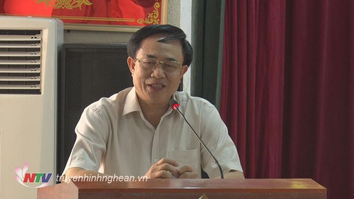 Đại diện lãnh đạo Sở LĐ-TBXH phát biểu tại hội nghị.