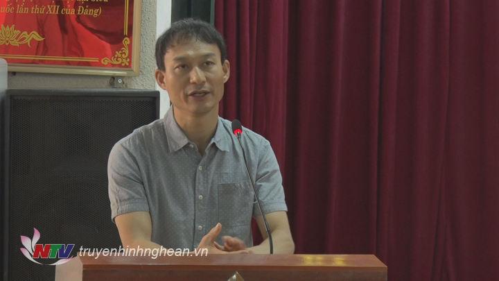 Ông  Mr Ha Sang Jin trưởng đại diện HRD tại Việt Nam  trao đổi  chính sách của Hàn Quốc và mong đợi  đối với chương trình EPS.