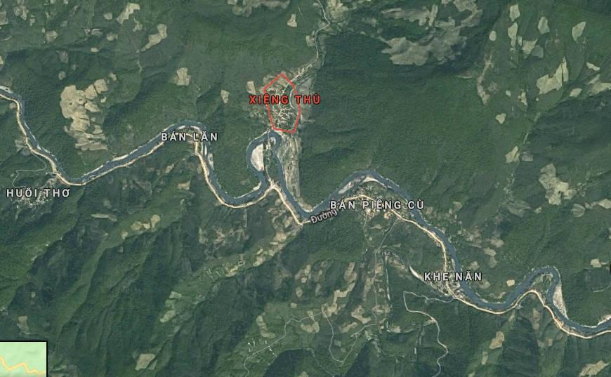 Khu vực xảy ra vụ cháy rừng ở Kỳ Sơn.