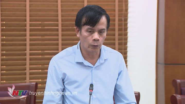 Đại diện lãnh đạo TP Vinh phát biểu tại buổi làm việc.