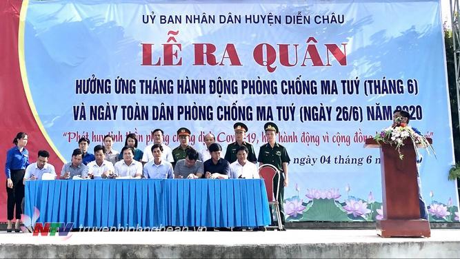 Các xã, thị trấn ký cam kết phòng chống tệ nạn ma túy