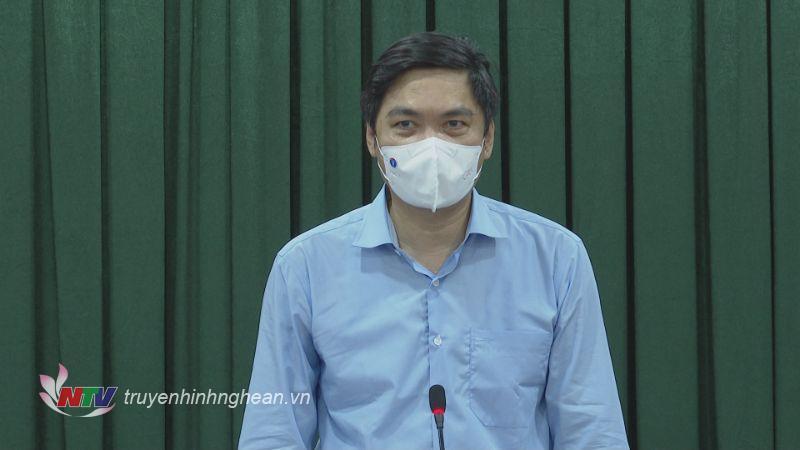 Phó Chủ tịch UBND tỉnh Hoàng Nghĩa Hiếu phát biểu kết luận buổi làm việc.