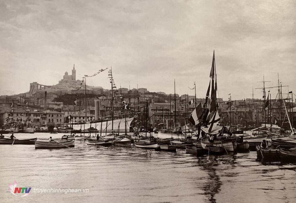 Hải cảng Marseille 100 năm về trước, khi chàng thanh niên Nguyễn Tất Thành lần đầu tiên đặt chân đến Pháp (Ảnh Tư liệu)