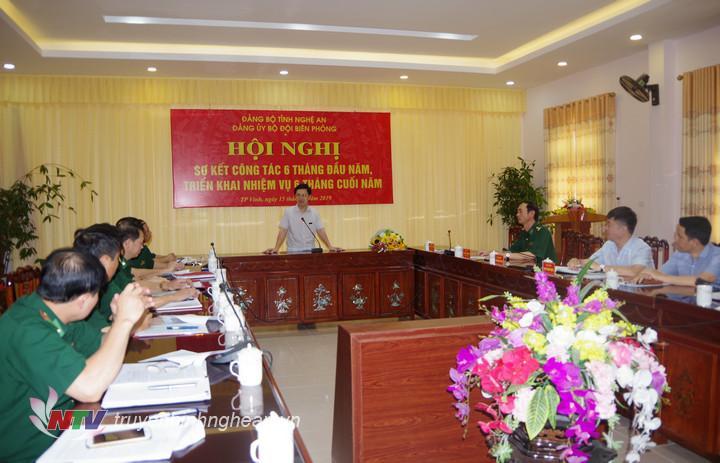 Phó bí thư Thường trực Tỉnh ủy Nguyễn Xuân Sơn phát biểu chỉ đạo hội nghị.