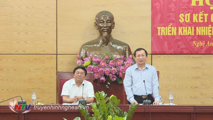 Phó Chủ tịch UBND tỉnh Đinh Viết Hồng phát biểu kết luận hội nghị.