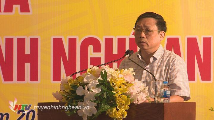 Giám đốc Sở Nội vụ Đậu Văn Thanh phát biểu khai mạc buổi lễ.