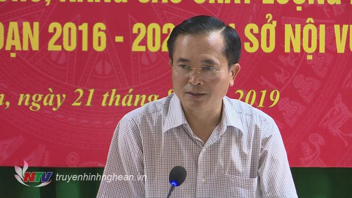 Phó Chủ tịch UBND tỉnh Lê Ngọc Hoa phát biểu tại cuộc làm việc.