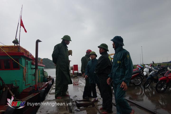 Đoàn công tác BĐBP tỉnh kiểm tra công tác ứng trực tại cảng Cửa Lò – Bến Thủy.