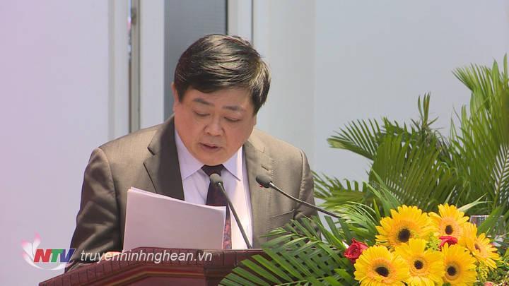 Tổng Giám đốc Đài TNVN Nguyễn Thế Kỷ phát biểu tại hội thảo.