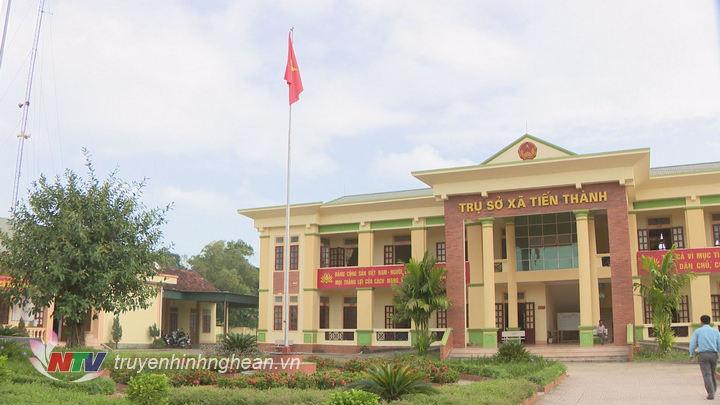 Trụ sở UBND xã Tiến Thành, huyện Yên Thành được xây dựng khang trang rộng rãi.